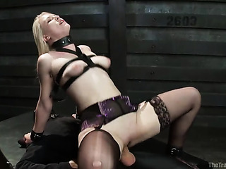 pale blonde whore gets