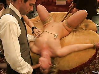 short haired blonde bondage