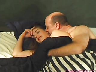 chubbier couple enjoy quick