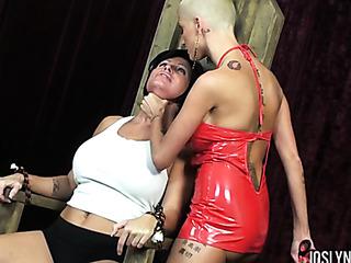 hard ass dominatrix chokes
