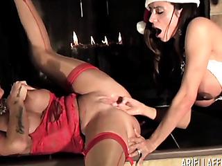 girls celebrate the holidays