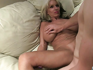 classy blonde milf with