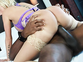 horny chick stockings gives
