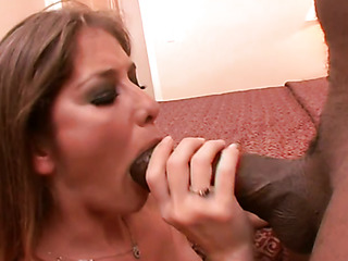 brunette satisfies her hunger